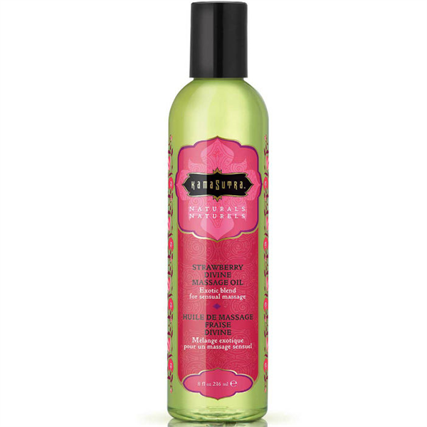 Kamasutra - Naturals Massage Oil Strawberry Divine 200 ml.