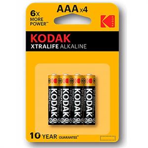 Kodak Xtralife Pila Alcalina Aaa Lr03 Blister*4