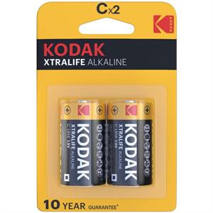 Kodak Xtralife Pilas Alcalinas C X 2 Unds