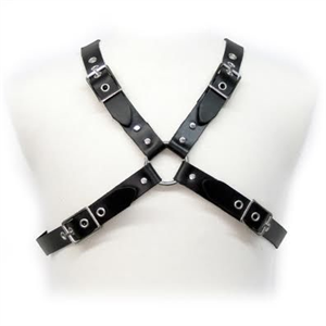 Leather Body Black Buckle Harness For Men