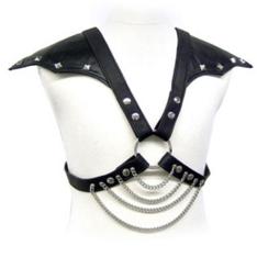 Leather Body Arnés de Pecho Hombre con Alas en Hombros