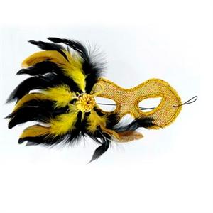 Mascaras Venecianas Mascara Veneciana Acabado Amarilla