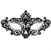 Mascaras Venecianas Mascara Veneciana Acabado Negro Y Brillantes
