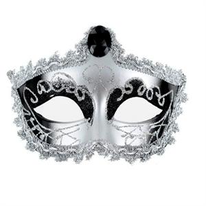 Mascaras Venecianas Mascara Veneciana Acabado Plateada