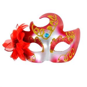 Mascaras Venecianas Mascara Veneciana Acabado Rojo Brillante