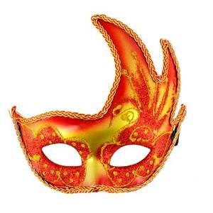Mascaras Venecianas Mascara Veneciana Acabado Rojo