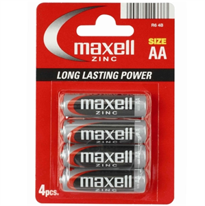 Maxell Pila Manganese/Zinc  Aa Lr6 4 Uds