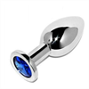 Metal Hard Metalhard Anal Plug Diamond Blue Small 5.71cm