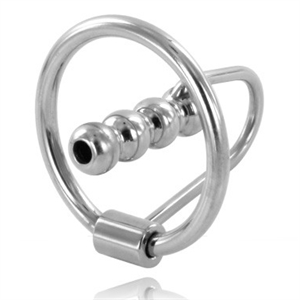 Metal Hard Metalhard Anillo Glande Con Plug Uretral 28mm