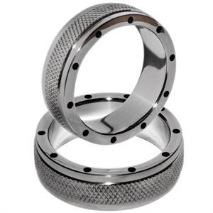 Metal Hard Metalhard Anillo Metal Para Pene Y Testiculos 50mm