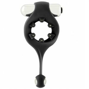Mjuze Anillo Vibrador Infinity Con Bola Estimuladora - Negro