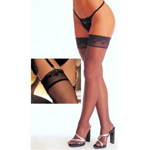 Stockings Black Lace Diamond  M&s Lingerie