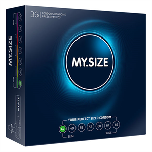 My.Size My Size Natural Condom Latex 47mm 36uds