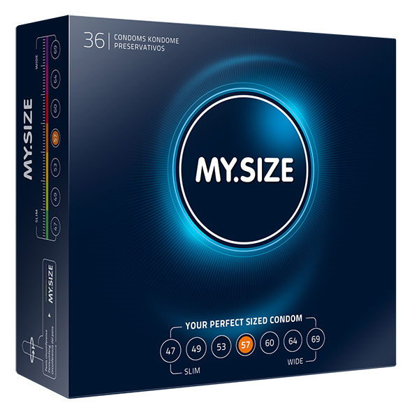 My.Size - My Size Natural Condom Latex 57mm 36 Uds