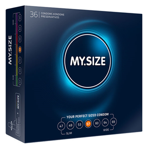 My.Size My Size Natural Condom Latex 57mm 36 Uds