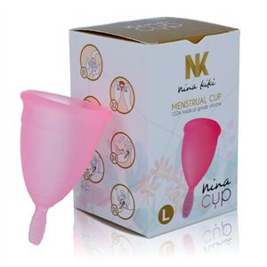 Nina Kikí Nina Cup Copa Menstrual Talla L Rosa