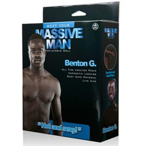 Nmc Massive Man Muñeco Hinchable Negro Benton G