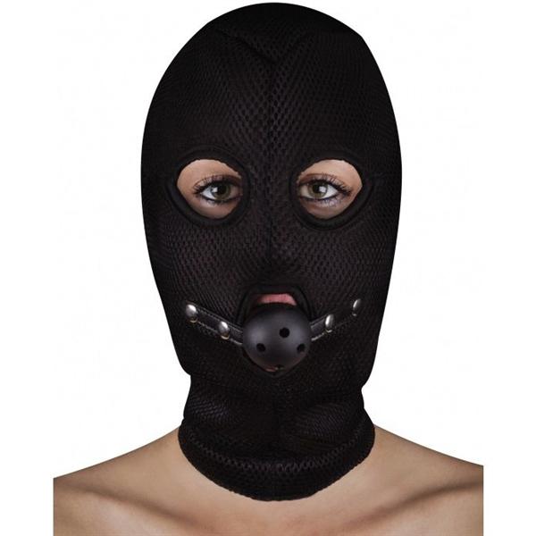Ouch! Mascara Balaclava con Mordaza Transpirable