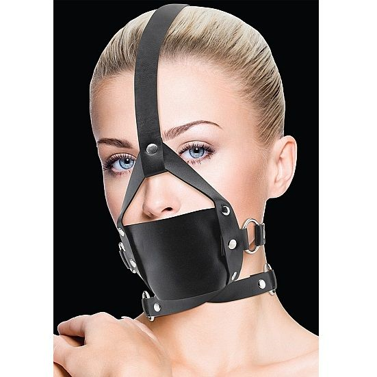 Ouch! - Ouch Leather Mordaza Negro Con Ajustes