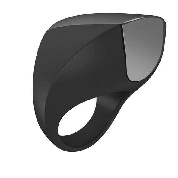Ovo - Ovo - A1 recargable Anillo Negro y cromo