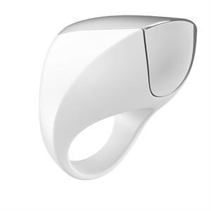 Ovo - Ovo - A1 recargable anillo blanco y cromo