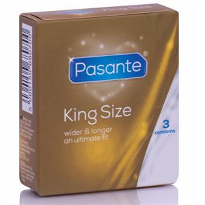 Pasante Preservativos King Más Largos Y Anchos  3 Unidades