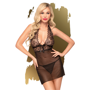 Penthouse Sweet Spicy Chemise Negro S/M