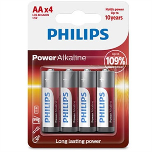 Phillips Philips Power Alkaline Pila Aa Lr6 Blister*4