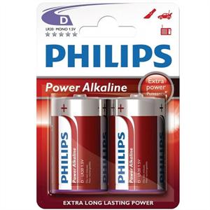 Phillips Philips Power Alkaline Pila D Lr20 Blister*2