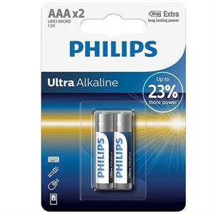 Phillips Philips Ultra Alkaline Pila Aaa Lr03 Blister*2