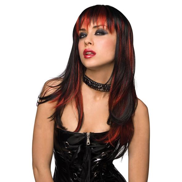 Pleasure Wigs - Courtney peluca - Negro con rojo quemado