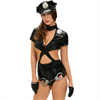 Queen Lingerie Queen Costume Sexy Police Woman 5 Pcs M
