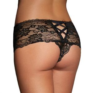 Queen Lingerie Black Panties One Size