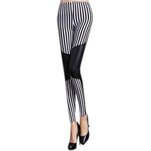 Queen Lingerie Legging Black & White
