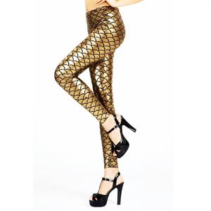 Queen Lingerie Legging Gold Metallic