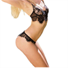 Queen Lingerie Set 2 Pcs Negro Talla Unica