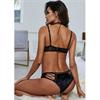 Queen Lingerie - Queen Lingerie Set Sujetador Y Panties  Negro M