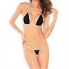 Queen Lingerie Queen Bikini Negro Plata