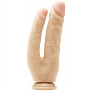 Real Rock Double Cock Natural / Anal 17.5 Vaginal 15cm