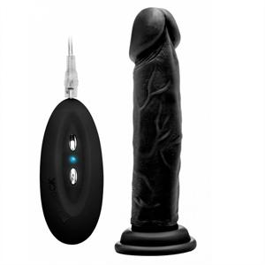 Real Rock 008 Vibrador 100% Realistico Negro 20cm (18 Cm Ins)