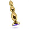 Rich R3 Gold Plug Metal Anal Purple Saphire 12cm