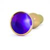 Rich - Rich R4 Gold Plug Anal Metal Purple Saphire 12cm