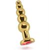 Rich R5 Gold Plug Anal Metal Red Saphire 12.5cm