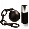 Rocks Off 10 Settings Ball & Chain Black