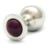 Rosebuds  Cristal Plug Acero 43 X 25mm Lila
