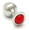 Rosebuds  Cristal Plug Acero 43 X 25mm Rojo