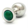 Rosebuds  Cristal Plug Acero 43 X 25mm Verde