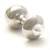 Rosebuds Cristal Swarovski Plug Anal Acero 43 X 25mm Aurore Boreale