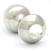 Rosebuds Cristal Swarovski Plug Anal Acero 43 X 25mm Clear