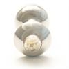 Rosebuds Cristal Swarovski Plug Anal Acero 43 X 25mm Golden Shadow